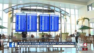 Nor'easter storm causing flight cancellations - Video