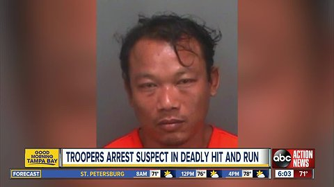 FHP troopers arrest suspect in deadly Pasco hit-and-run