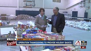Operation Thanksgiving to provide holiday basics to metro families - Video