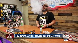 New study says vaping could increase risks of heart attack - Video