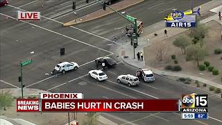 Two children thrown from car in Phoenix crash