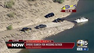 Divers searching for missing father at Lake Pleasant