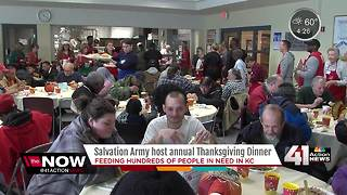 Hundreds show for Salvation Army Thanksgiving - Video