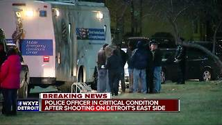 Detroit police officer in critical condition following shooting - Video