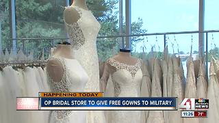 OP bridal store to give free gowns to military - Video