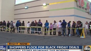 Shoppers flock for Black Friday deals - Video