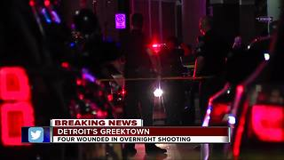 Four people shot overnight in Detroit's Greektown - Video
