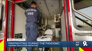 Lifesaving efforts from Tucson Fire Department paramedics continue during the pandemic