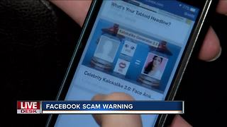 Facebook privacy warning about quiz scams