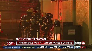 Two businesses temporarily shut down after fire breaks out in shopping plaza in Lehigh Acres
