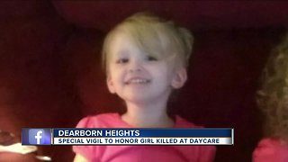 Special vigil held for girl killed by lunchroom table