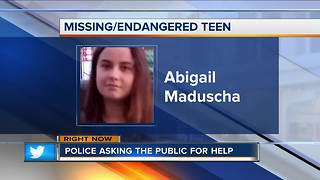 South Milwaukee Police looking for missing/endangered 15-year-old girl - Video