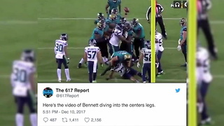 Michael Bennett Cheap Shots Jaguars In Ugly Loss - Video