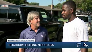 Two men restore hope for Tulsa business owner after lawn equipment stolen