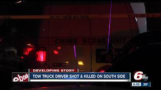 Tow truck driver found shot, killed on Indianapolis' south side - Video