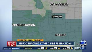 Jeffco enacting Stage 2 fire restrictions - Video