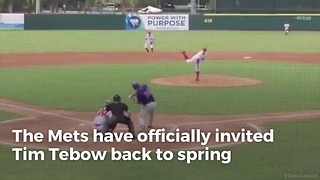 Tim Tebow Invited To Mets Spring Training - Video