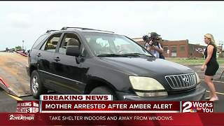 Mother arrested after Amber Alert
