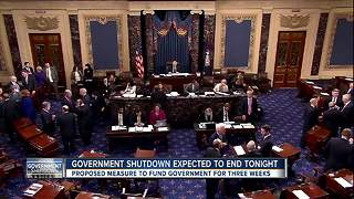 Government shutdown expected to end tonight - Video