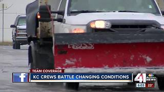 KC crews battle changing conditions - Video