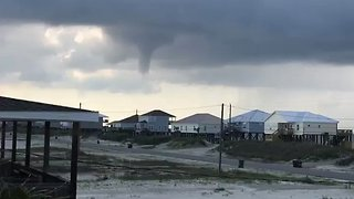 Funnel Cloud Forms Over Dauphin Island - Video
