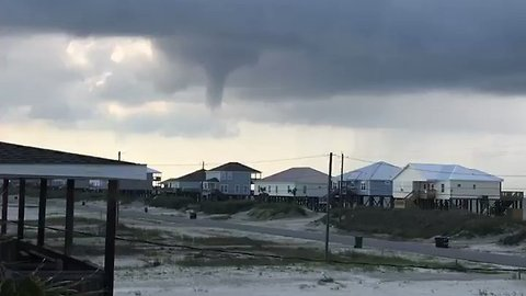 Funnel Cloud Forms Over Dauphin Island