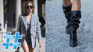 Slouchy Leather Boots Are Winter Fashion RAGE This Season! | Trending Topics - Video