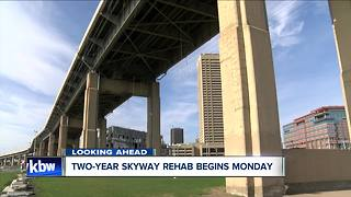 Skyway lane closures begin Monday - Video