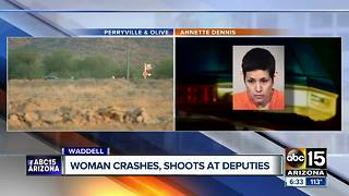 Woman accused of shooting at deputies in Waddell