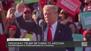 President Trump returns to Arizona