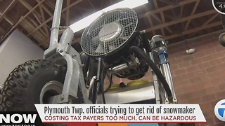 Plymouth trying to get rid of snow machine - Video