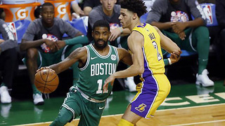 Kyrie Irving CARVES UP Lonzo Ball & Lakers with Some NASTY Handles - Video