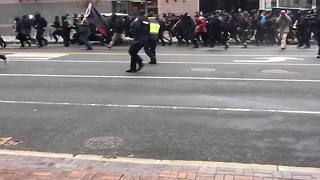 VIDEO | Protests get out of hand in the streets, people pepper sprayed - Video