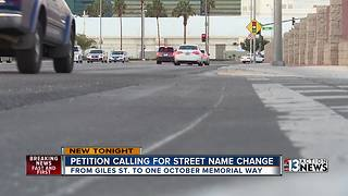 Petition calls for street name to remember 1 October victims. - Video