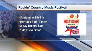 Rockin' Country Music Festival this weekend in Taylor - Video