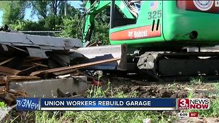 Union Workers Rebuild Garage - Video