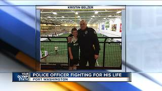 A Port Washington police officer is raising awareness while waiting for an organ transplant - Video