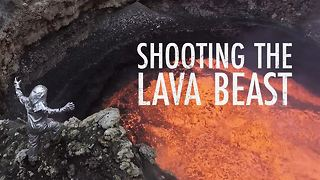 Would you dangle over lava to get the perfect shot? - Video