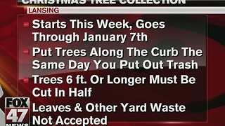 City of Lansing offering tree collection - Video