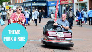 Wacky inventor converts fairground DODGEM into CAR using engine from mobility scooter