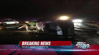 Crash closes I-10 Eastbound at Alvernon Way - Video