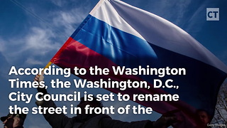 D.C. Renaming Street in Front of Russian Embassy - Video