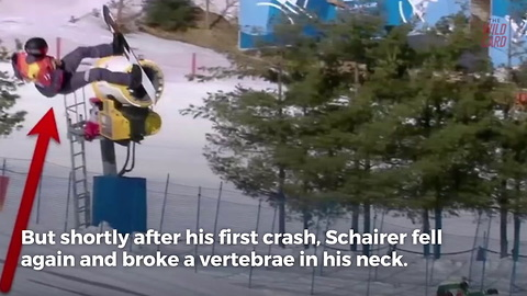 Olympian Snowboarder Breaks His Neck In Scary Fall