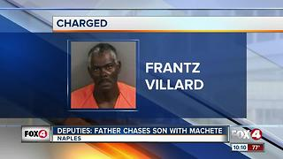 Father Arrested for Chasing Sons with Machete - Video