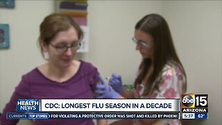 Flu season could last into the summer