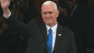 Presidential Inauguration 2017: Vice President-elect Mike Pence arrives at Capitol