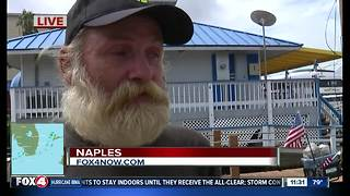 Naples homeless man rides out Hurricane Irma without shelter - Video