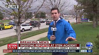 Scene outside of STEM School Highlands Ranch shooting
