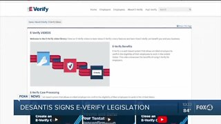 Governor DeSantis signs E-Verify lesgislation