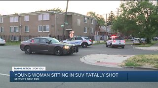19-year-old woman sitting in SUV fatally shot in Detroit